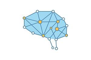 Artificial intelligence color icon