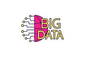 Big data color icon