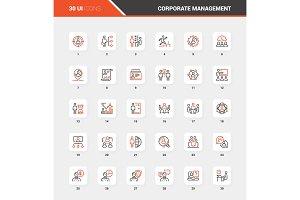 Corporate Management Flat Line Web