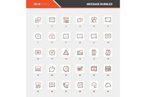 Message Bubbles Flat Line Web Icon