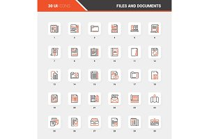 Files and Documents Flat Line Web