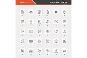 Leisure and Tourism Flat Line Web