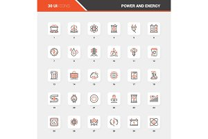 Power and Energy Flat Line Web Icon