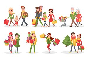 Characters of Families at Christmas