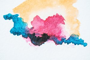abstract background with colorful wa