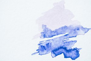 abstract blue watercolor painting on