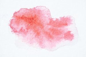 abstract pink watercolor painting on