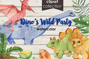 Dinosaurs Watercolor Collection