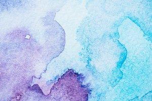 handmade light blue and purple water