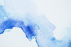 creative blue watercolor painting on