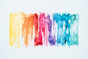 abstract colorful watercolor strokes