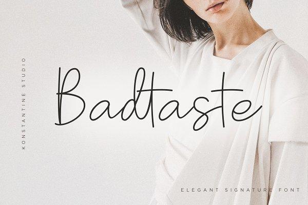 Script Fonts: Konstantine Studio - Badtaste - Elegant Signature Font