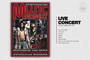 Live Concert Flyer Template V8