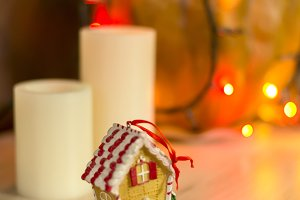 Christmas decoration, candlelight an