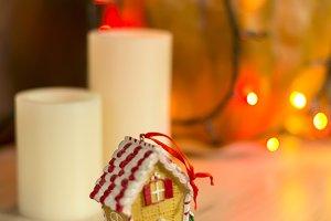 Christmas decoration, candlelight an