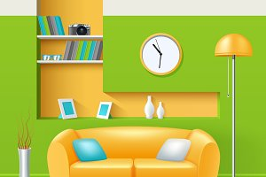 Modern interior realistic design