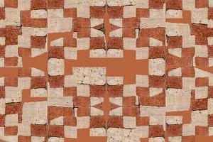 Irregular Mosaic Geometric Pattern