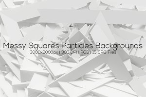 Messy Squares Particles Backgrounds