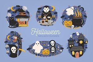Funny Halloween set