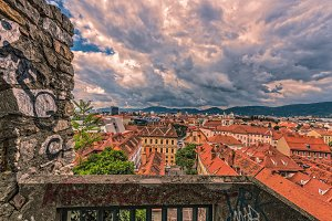 view to the city of graz