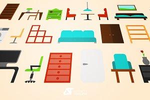 Furniture Vector Set Affinity