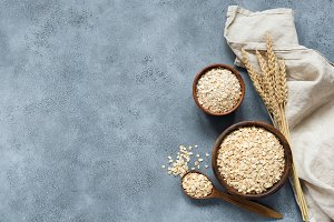 Rolled oats, oat flakes, grains