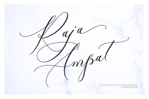 Script Fonts: RedyStudio - IntroSale 30% OFF - RAJA AMPAT