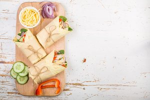 Tortilla wrap with chicken and