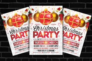 30%OFF Christmas Party Flyer