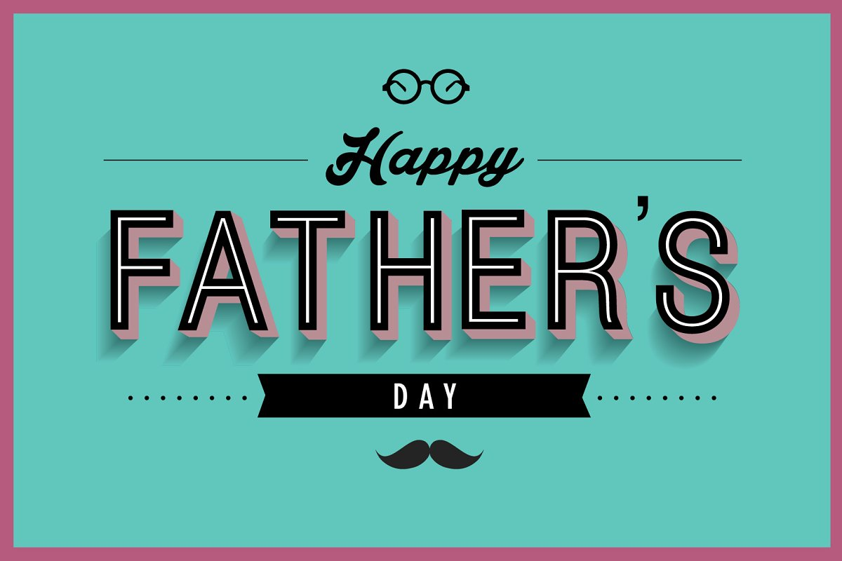 Fathers Day Greeting Card Template Illustrations Creative Market