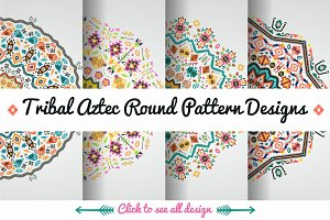 Decorative Round Aztec Pattern