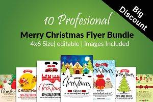 Christmas Greeting Flyers Bundle 10