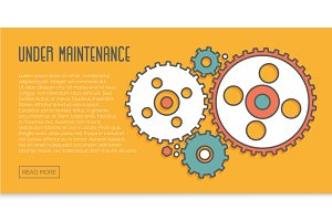 2 Under Maintenance Website Banners