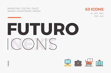 Futuro Next Icons / Marketing Pack by  in Icons