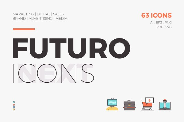 Icons: Bloomicon - Futuro Next Icons / Marketing Pack