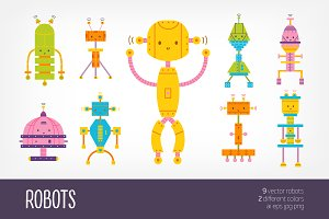 Cute robots bundle
