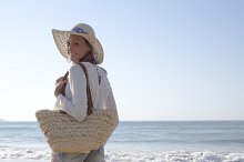 fashion woman at beach