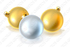 Gold and Silver Christmas Bauble