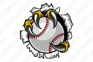 Baseball Ball Eagle Claw Talons