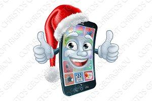 Mobile Cell Phone Christmas Mascot