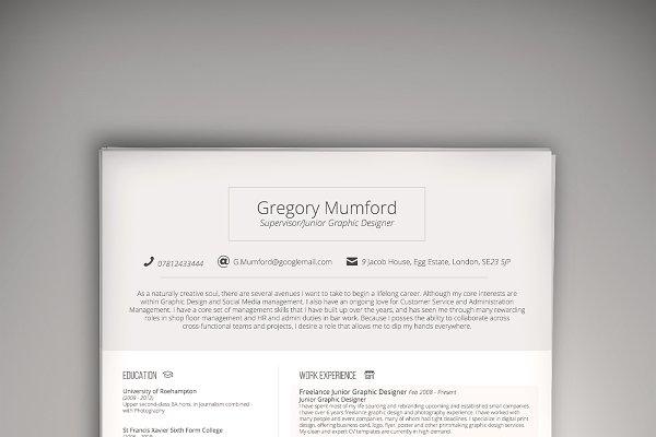 August CV/Resume (PSD + WORD DOC)