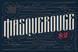 Masquerouge $2 victorian font