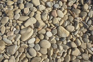 Texture of white pebbles