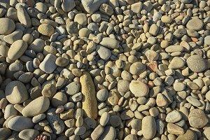 Pebble beach in the mediterranean
