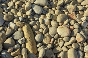 Texture of pebbles of different shap