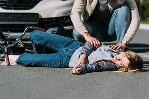 young woman mowed down by driver in