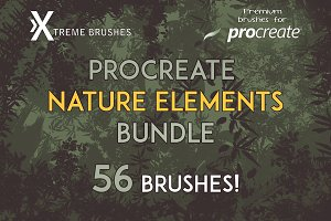Procreate Nature Elements Bundle!