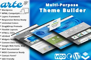 Arte Multipurpose Theme Builder WP