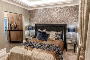 Interior of luxury bedroom