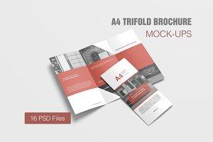 A4 Trifold Brochure Mockup